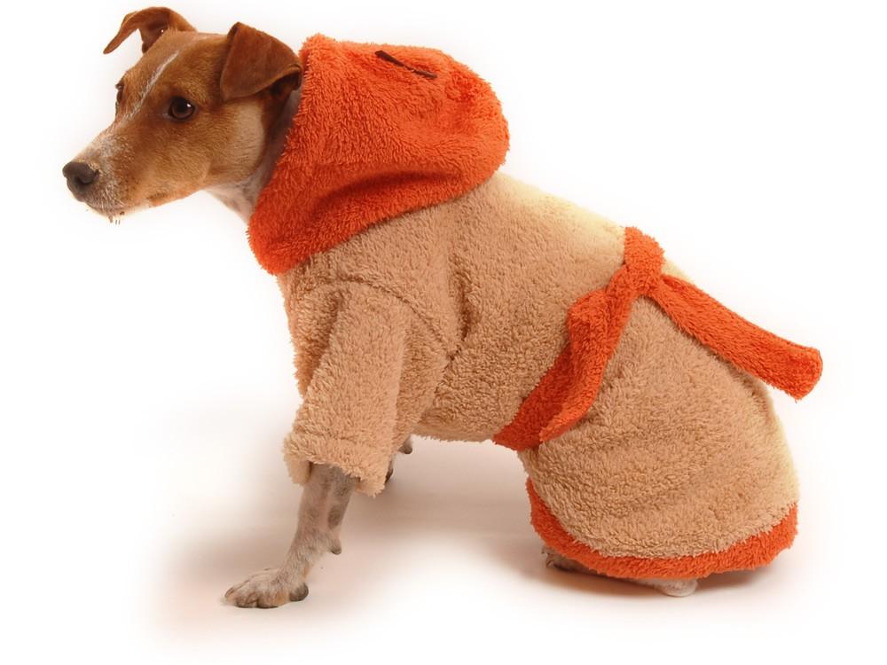 Župan pre psa hnedo - oranžový - Župany  3a5c620da14
