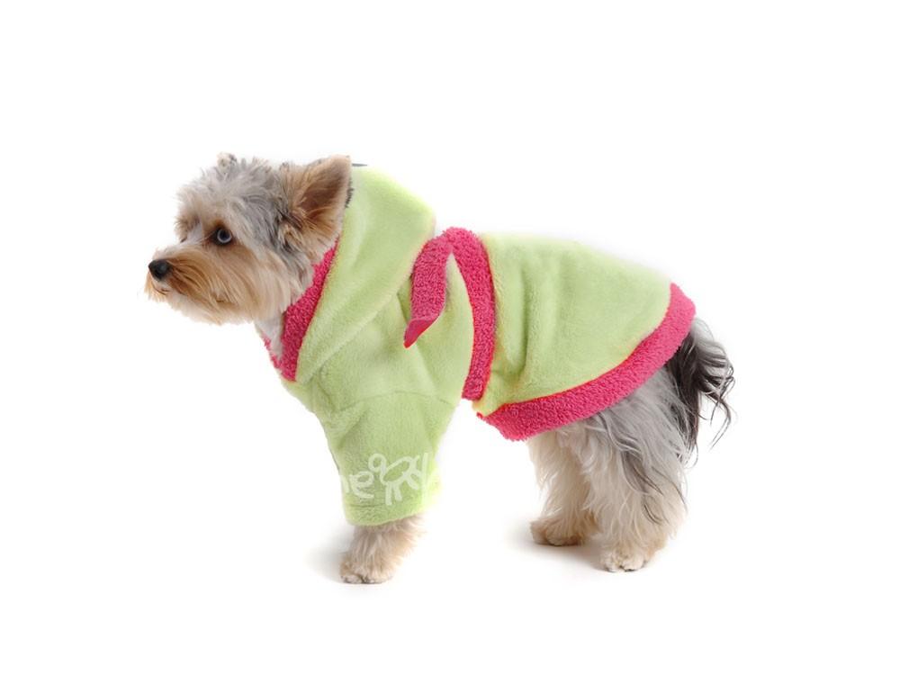 Župan pre psa zeleno růžový - Župany  061344fe858