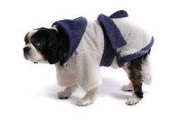 Župan pre psa bielo - fialový