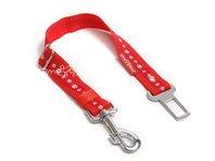Pás do auta pre psa labka červená, š. 2,5 cm