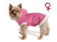 Mikina pre psa Danny ružová s kapucňou - sučka