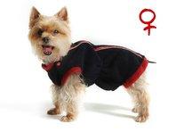 Mikina pre psa Danny čierno červená - sučka