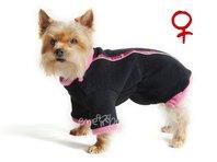Mikina pre psa Zonny čierno ružová - sučka