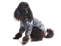 Pršiplašť pre psa Tara s rukávky čierna, červený lem