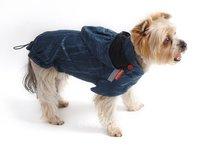 Pršiplašť pre psa Lea petrolejový s kapucňou