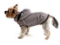 Bunda pre psa Šon béžovo sivá s kapucňou