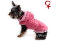 Bunda pre psa Bela ružová - sučka