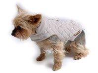 Obleček - vesta pro štěně Glori béžová