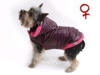 Bunda pro psa Bela vínovo růžová - fenka