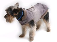 Obleček - vesta pro psa Bela hnědá