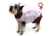 Obleček - vesta pro psa Bela starorůžová - fenka